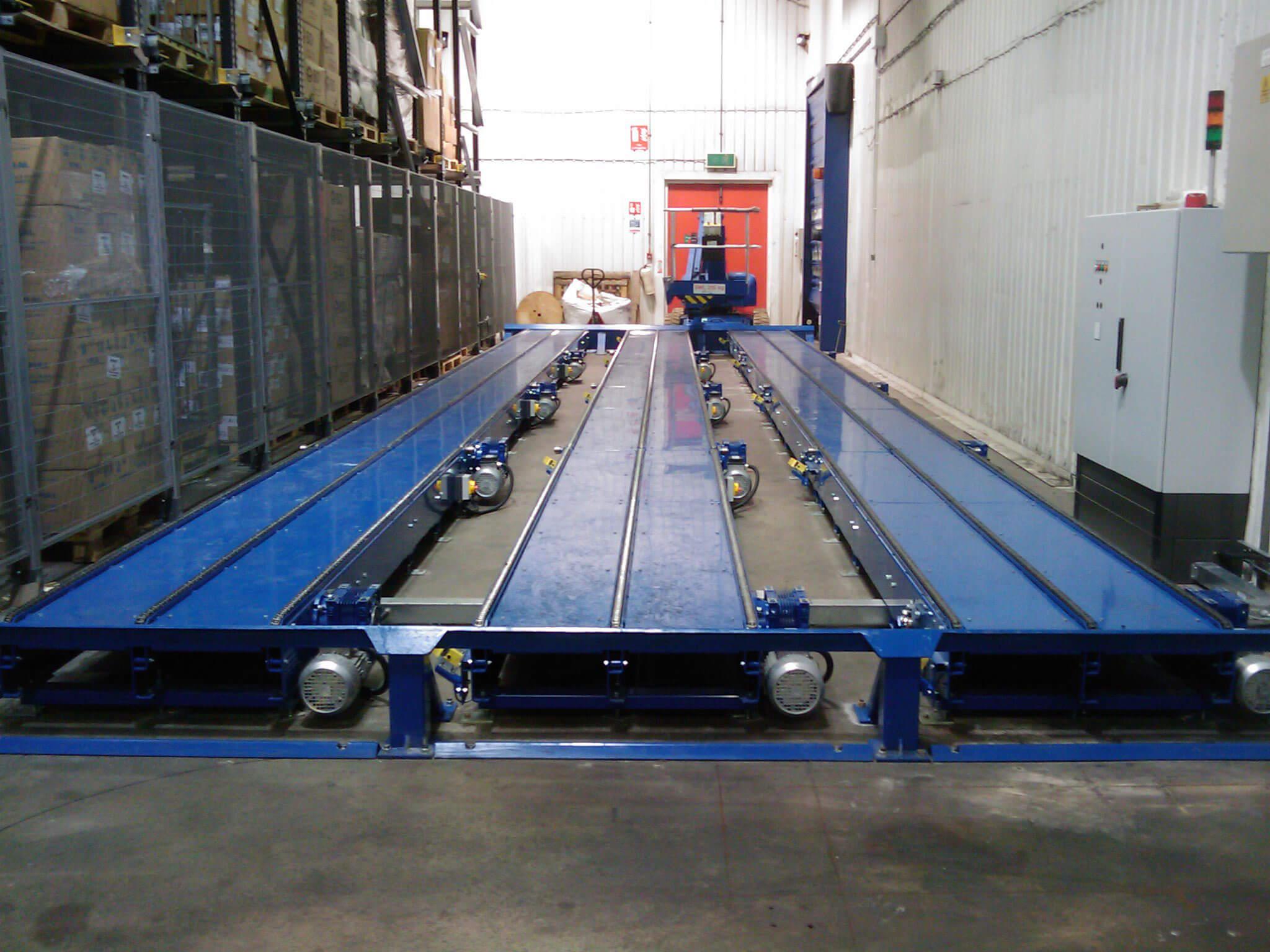 chain conveyor lineup